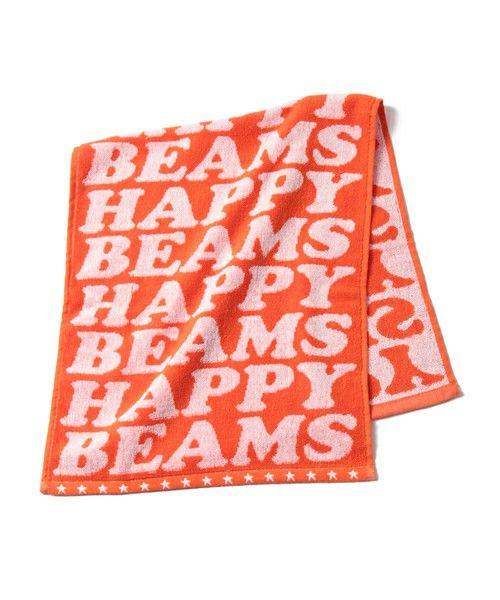 bpr BEAMS(雑貨)のBEAMS / HAPPY フェイスタオルです。こちらの商品はBEAMS Online Shopにて通販購入可能です。