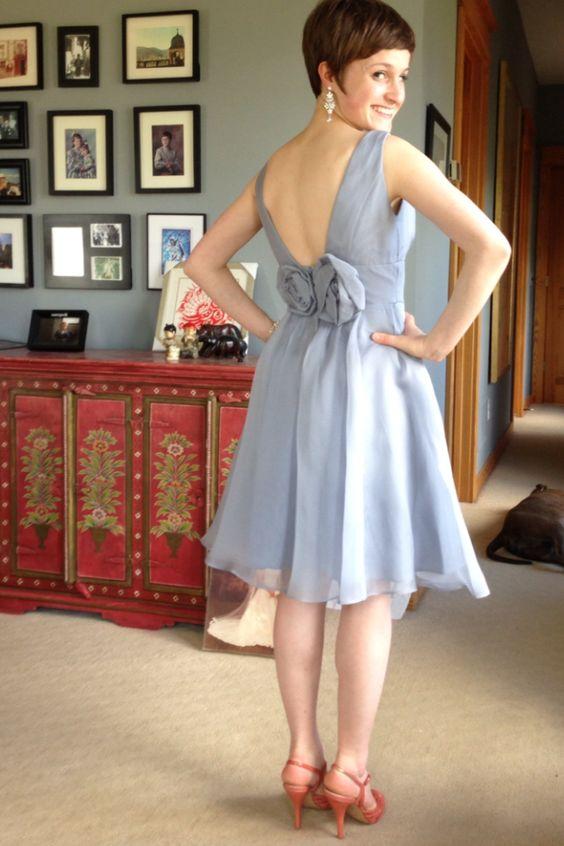 My prom dress (reused bridesmaid dress)