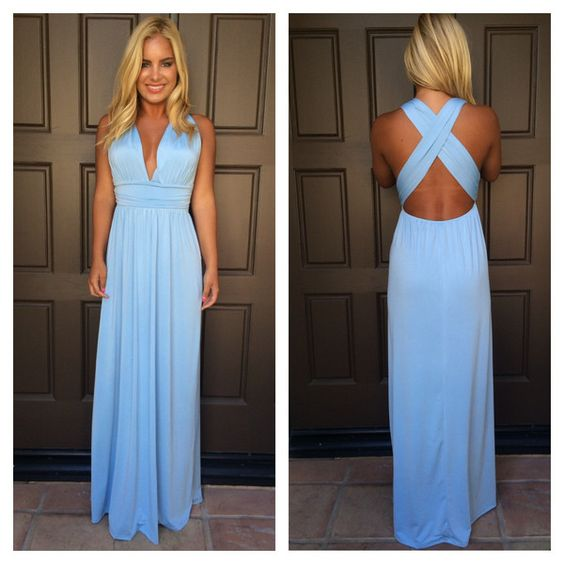 Dancing With The Stars Maxi Dress - POWDER BLUE - Dream closet ...