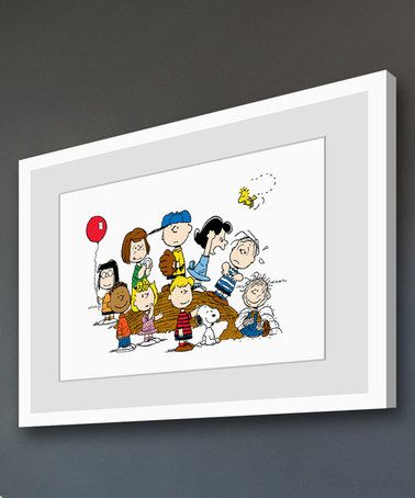 This Peanuts Baseball Group Framed Giclée Print is perfect! #zulilyfinds