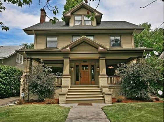 Another cute bungalow porch house fronts pinterest for Portland craftsman homes