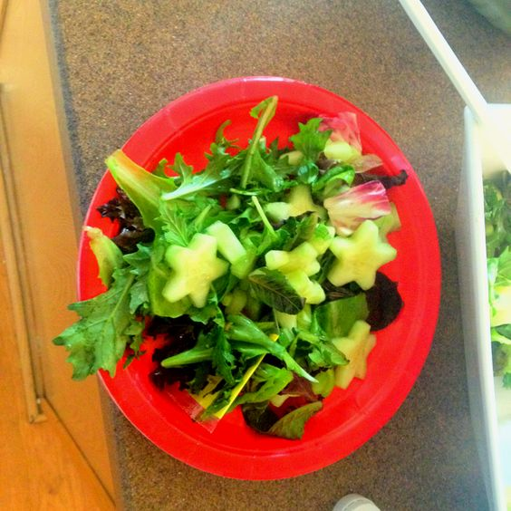 My cucumber stars, 4th of July salad