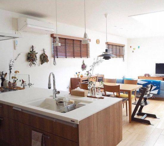 自分色の彩りあるキッチンと特別な空間づくり Taka0taka0taka0さんのキッチンを探索 北欧 造作 Panasonic パナソニック ラクシーナ ムクリ Mukuri リビング キッチン キッチン 造作