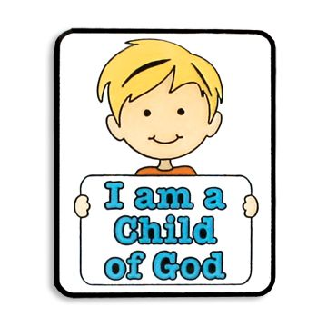 I am a Child of God Boy Tie Pin for the 2013 primary theme