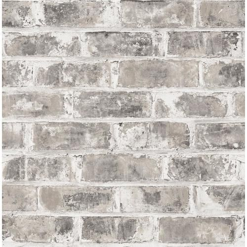 Brewster Urban Walls 56 4 Sq Ft Grey Non Woven Brick Unpasted Paste The Wall Wallpaper Lowes Com In 2020 Brick Wallpaper Faux Brick Walls Faux Brick