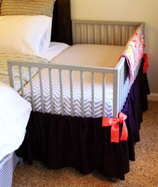 Want a co-sleeper? Try this IKEA hack rather than buy the pricier option. 10 Easy Ikea Hacks for the Nursery - mom.me
