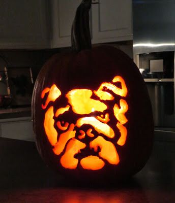 Great Idea For Carving Contest Bulldogpumpkin 2014