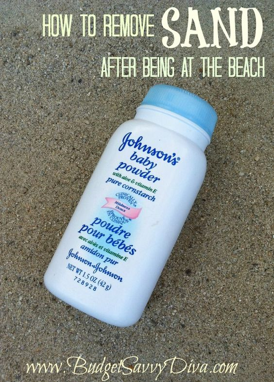 How to Remove Sand off After Being at the Beach