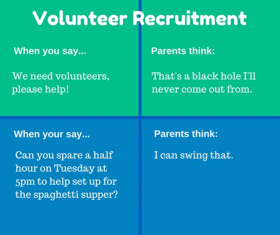 try a different approach to recruiting volunteers leader success tips pinterest volunteers. Black Bedroom Furniture Sets. Home Design Ideas