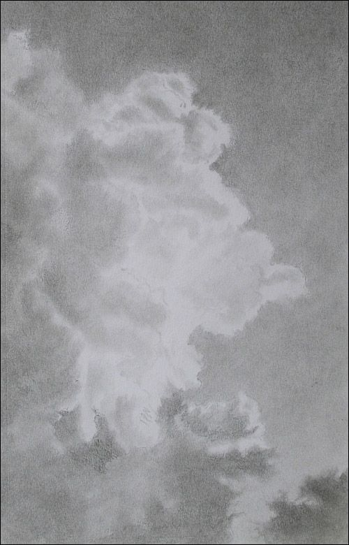 how to draw storm clouds with a pencil