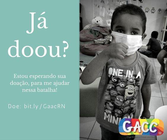 Com um pequeno gesto você pode ajudar muito. Quer saber como? Acesse o link na bio e participe da nossa campanha! Solidariedade faz bem! Vem gente tá na hora de doar. #GACCRN #SOLIDARIEDADE