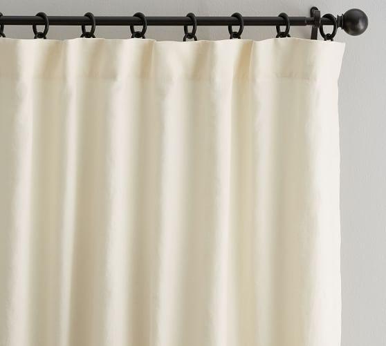 Classic Belgian Flax Linen Curtain Ivory Linen Curtains Curtains Drapes Curtains