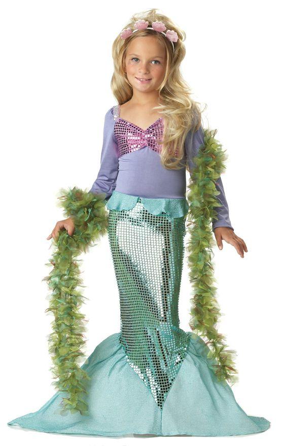 Meerjungfrau Kostüm Kinder,Littele Mermaid 00246 (Large): Amazon.de: Spielzeug