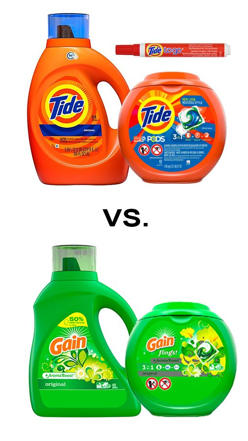 Tide Vs Gain Laundry Detergent What S The Difference Gain