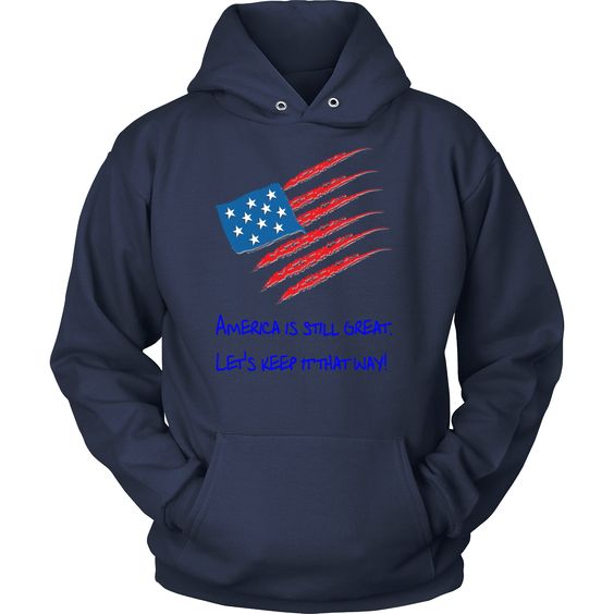 Men's Pull-Over Hoodie (America is Still Great Design) (7 colors, 8 sizes)