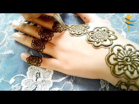 Simple And Beautiful Arabic Henna Mehndi Deigns A Modern And Light Style For Special Events Youtube Hand Henna Henna Mehndi Designs
