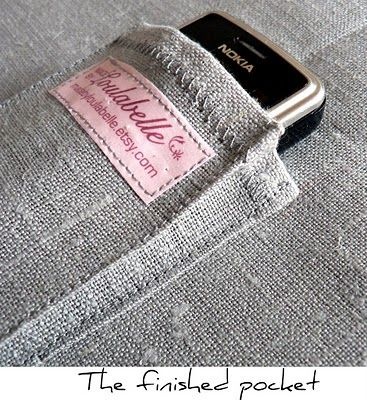 madebyloulabelle: Tutorial for adding a cell phone pocket to a bag