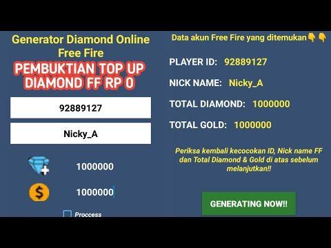 Pembuktian Top Up Diamond Ff Rp 0 Youtube Vape Aplikasi Atasan