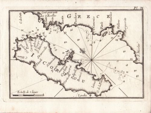 Details Sur Carte Geographique Xviiie Corfou Corcyre Grece