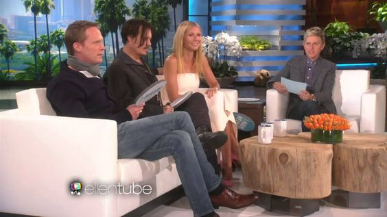 """Johnny Depp, Paul Bettany and Gwenyth Paltrow play """"Never Have I Ever."""" Their faces are hilarious."""