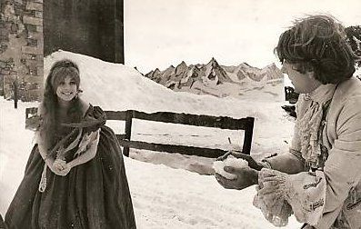 "Sharon Tate & Roman Polanski on the set of ""The Fearless Vampire Killers"", 1966"