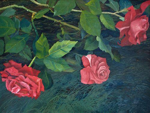 Fallen Roses by Boyd Greene