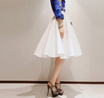 pleated skirts high waist and swing skirt on