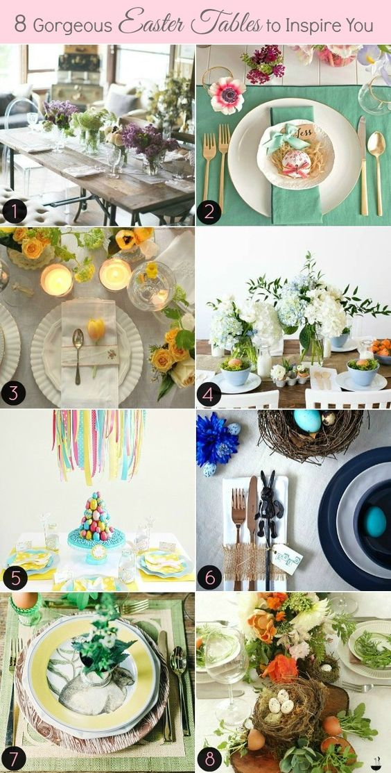 8 INSPIRING EASTER TABLE SETTINGS: Settings Celebrations, Advertise Submissions, Easter Holiday, Easter Goodies, Easter Tablescapes, Easter Table Settings, Holidays Easter, Easter Delight