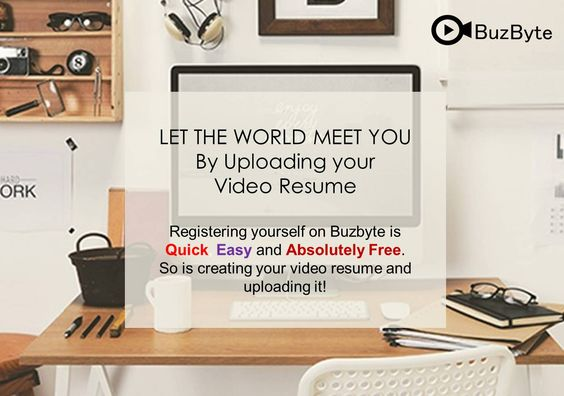 Registering yourself on buzbyte is Quick Easy and Absolutely Free - absolutely free resume