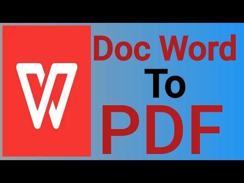 Cara Mengubah Dokumen Word Ke Pdf Dengan Wps Office Di Android Youtube