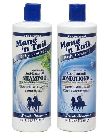 Mane 'n Tail anti-dandruff with Oilve Oil Shampoo 16oz & Conditioner 16oz (Combo Set) by Mane n' Tail. $20.36. revitalisant and shampooing antipelliculaire. Combo Deal!!!. Anti-Dandruff  Shampoo 16oz & Conditioner 16oz. relieve itching & flaking / moisturizes hair & scalp. The Original Mane 'n Tail Anti-Dandruff Shampoo: ph balanced-gentle clean for healthy scalp and manageable hair, Olive Oil nourishes, strengthens and fortifies, Helpsprotect color-treated hair. //////////...