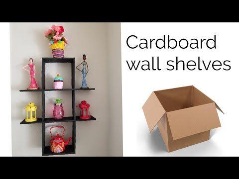 Diy Cardboard Shelves Best Out Of Waste Idea Youtube Diy Cardboard Furniture Diy Shelves Easy Cardboard Decor