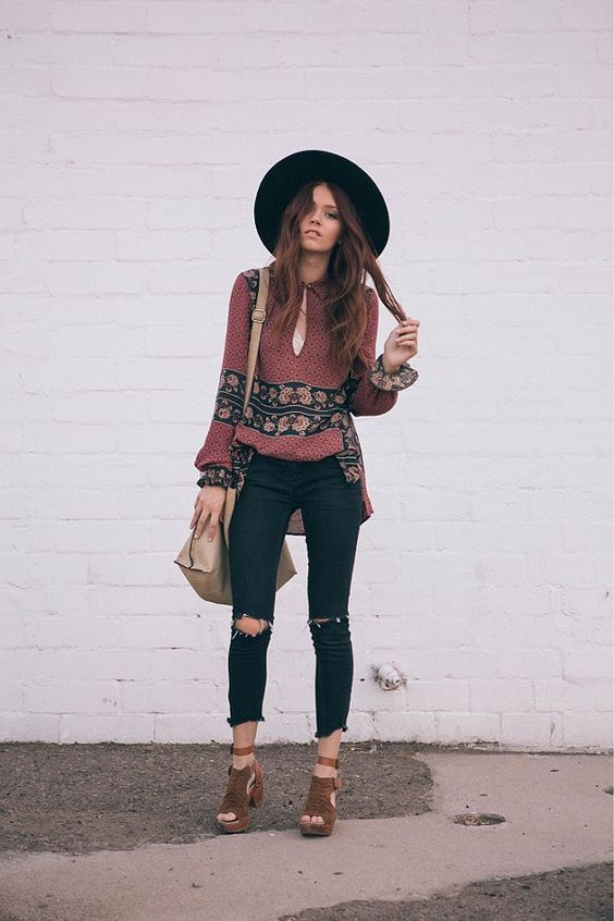 Free People: destroyed ankle skinny