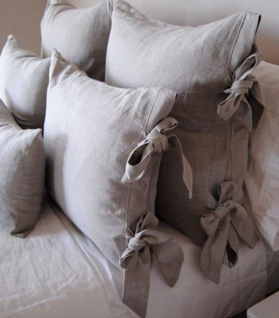 Euro Size Sham-Olive Linen Bedding Collection. $35.00, via Etsy.