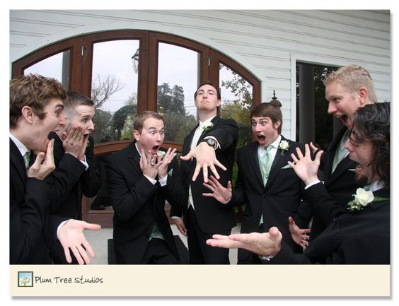 This one makes me laugh. Come on men...you have always wanted a photo like this in your wedding album. Right?