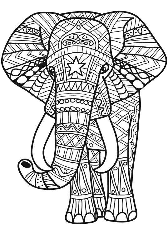 Dibujo En 2020 Con Imagenes Diseno De Elefante Mandalas Para