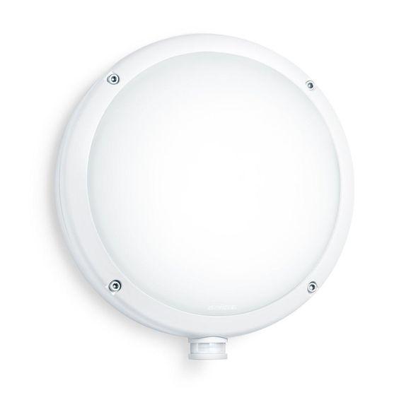 Steinel Außenleuchte L 330 S weiß, Design-Sensorleuchte mit 360° Bewegungsmelder…