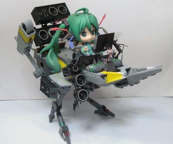 Hatsune Miku ride drone