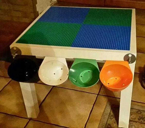 ikea tisch als lego tisch diy pinterest basteln kinderzimmer und wohnen. Black Bedroom Furniture Sets. Home Design Ideas