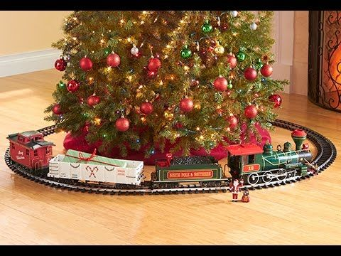 Buy Electric Trains At Sharperimage Com The Night Before Christmas Train Set Has A Large G Scale Christmas Tree Train Christmas Train Christmas Tree Train Set