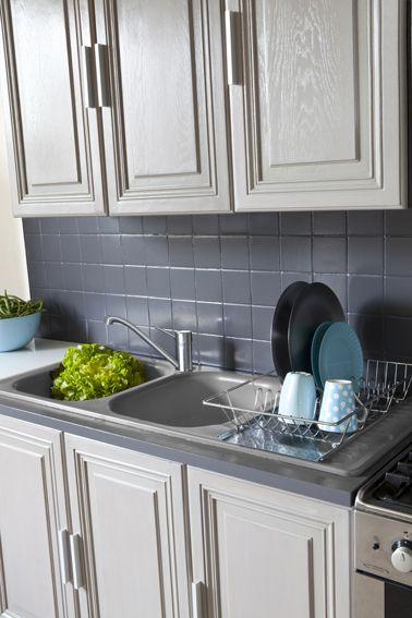 Armoires de cuisine peinture armoire cuisine en bois - Peinture resine meuble de cuisine ...