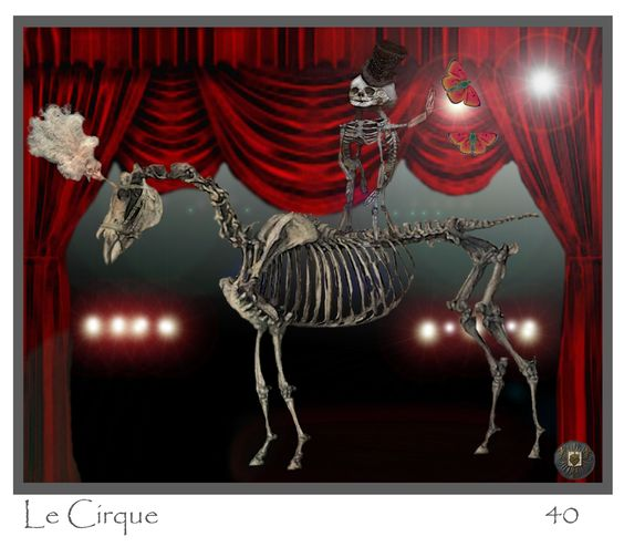 Le Cirque~  Californian Artist: Ae40 Anthropomorphic Alchemist Digital artistry~ Visit Soul Guide on Facebook for more visuals or SoulGuide on etsy.