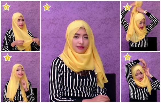 Tutorial Hijab Pashmina Mudah dan Cepat Untuk Kuliah | Hijab Tutorial ...
