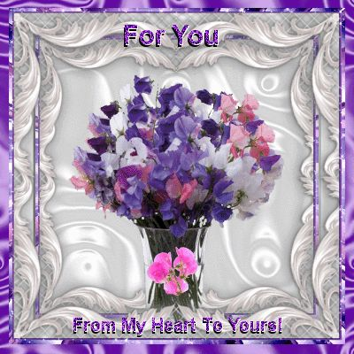 Flower Week 20th-26th Sept section. Send these beautiful sweet pea flowers to your friends & family from the heart.:
