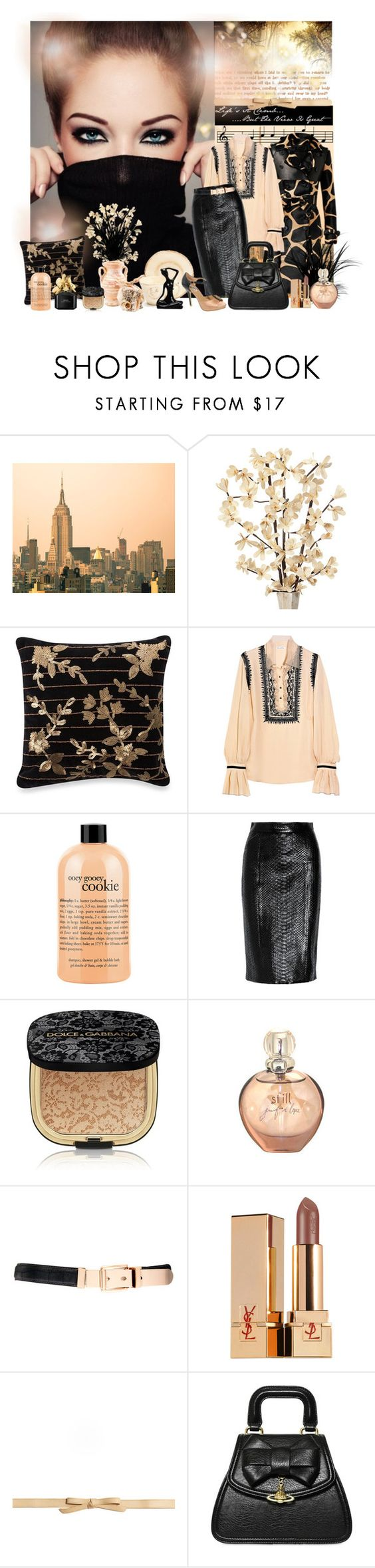 """""""Untitled #1051"""" by tina-teena ❤ liked on Polyvore featuring Burberry, Waterford, Oscar de la Renta, philosophy, Gucci, Dolce&Gabbana, Jennifer Lopez, Warehouse, Yves Saint Laurent and Elegantly Waisted"""