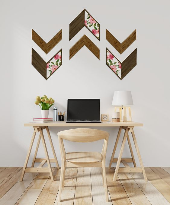 Add pretty paper or stencil to make our chevrons a standout accessory.