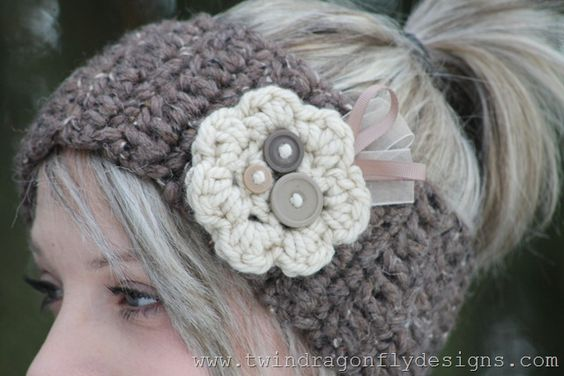 Crochet Patterns And Tutorials : patterns flower crochet headbands crochet headband pattern crochet ...