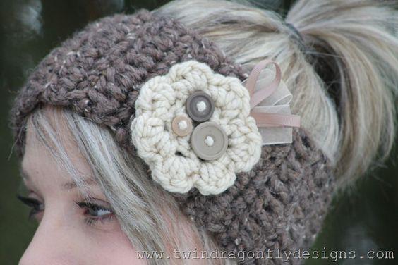 Crochet Patterns And Tutorials : patterns flower crochet headbands crochet headband pattern crochet ...