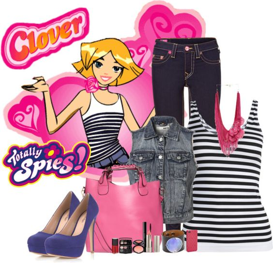 Clovers polyvore and totally spies on pinterest - Clover totally spies ...