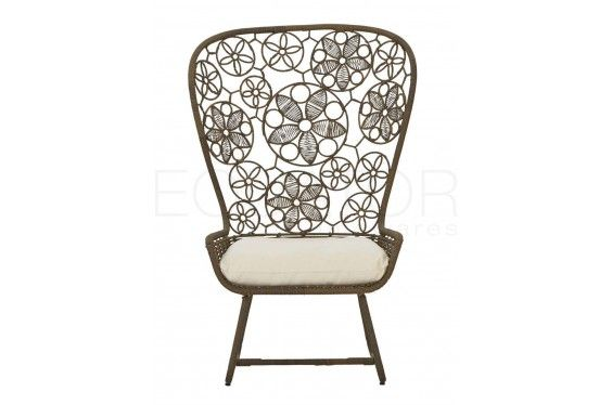 Lotus Studio Chair Synthetic Rattan | Such a beautiful pattern